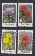 SWAZILAND, 1987, Mint Never  Hinged Stamps, Garden Flowers, 532-535, #6783 - Swaziland (1968-...)