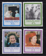 SWAZILAND, 1987, Mint Never  Hinged Stamps, Royal Ruby Wedding, 536-539, #6784 - Swaziland (1968-...)