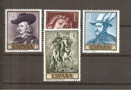 España/Spain-(MNH/**) - Edifil  1434-37 - Yvert  1099-02 - 1961-70 Nuevos & Fijasellos