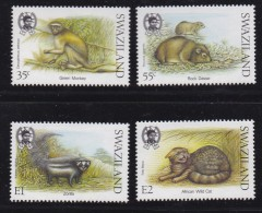 SWAZILAND, 1989, Mint Never  Hinged Stamps, Small Mammals, 548-551, #6787 - Swaziland (1968-...)