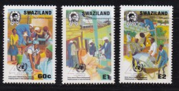 SWAZILAND, 1990, Mint Never  Hinged Stamps, United Nations, 575-577, #6794 - Swaziland (1968-...)