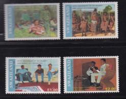SWAZILAND, 1991, Mint Never  Hinged Stamps, Mswati III Coronation, 588-591, #6796 - Swaziland (1968-...)