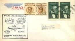 1959  PanAm First Flight  Miami FL To Tegucigalpa, Honduras  FAM 5 - Air Mail