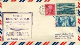 1959 First PanAm Air Mail  Los Angeles CA To London UK - Air Mail