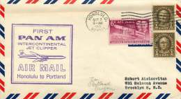 1959 First PanAm Air Mail   Honolulu HA  To  Portland OR - Air Mail