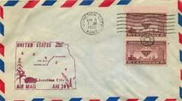 1953  First Flight  Junction City KA To Manhattan KA  AM 19 - Air Mail