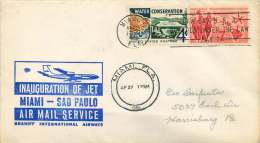 1961  Braniff  First Flight  Miami FL To Sao Paulo Brazil - Air Mail