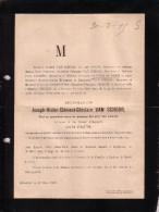 BRUXELLES Joseph VAN SCHOOR Ancien Sénateur 88 Ans En 1895 Ancien Administrateur ULB Biens à Grand-Manil Gembloux - Todesanzeige