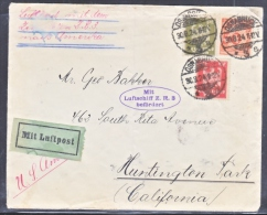 GERMANY  ZEPPELIN  COVER   ZR-3   LZ 126   (U.S.S.  LOS ANGELES)  TO  U.S.A. - Airmail