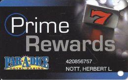 Par-A-Dice Casino - East Peoria, IL - Slot Card - Casino Cards
