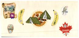 (450) Envelope With Selection Of Tonga Island Unusual Shape Stamps - - Tonga (1970-...)