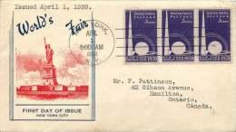 1939   New York World's Fair  Sc 853 - Sobre Primer Día (FDC)