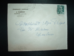 LETTRE TP MARIANNE DE GANDON 2F OBL.24-5-45 MUSSIDAN DORDOGNE (24) PHARMACIE MODERNE J. GARDET - Other