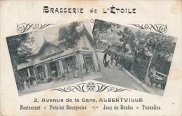 73 - ALBERVILLE - Savoie - Brasserie De L'Etoile - 2 Avenue De La Gare - Restaurant Jeux De Boules Tonnelles - Albertville