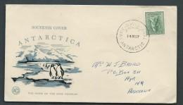 Australian Antarctic Territory 1957 Davis Base Cover To Ayr QLD - Australian Antarctic Territory (AAT)