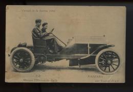 Circuit De La Sarthe 1906 Marque L Hirondelle Paris Nazzaro Sur Voiture Fiat  (voir Etat) - Rally Racing