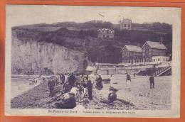 Carte Postale 76. Saint-Pierre-en-Port  Falaise Amont Et Baignade En Mer Haute   Trés  Beau Plan - Frankreich
