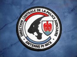Ecusson Patch Tissu Police Nationale Antenne Police Judiciaire De Nice - Police & Gendarmerie
