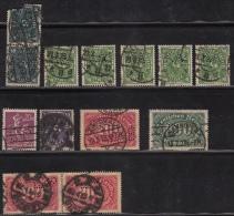 Perfins, Lochung, Perforés Und Anderen 1923 Ungefähr - Used Stamps