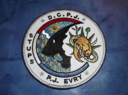 Ecusson Patch Tissu Clémenceau Police Judiciaire Stups D´Evry - Police & Gendarmerie
