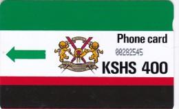 Kenya, KEN-07 400 KSHS, Second Definitive Issue, Green Arrow - KPTC Logo, 2 Scans. - Kenya