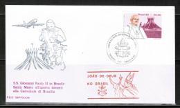 VA 1980 VATICAN THE VISIT OF POPE JOHN PAUL II IN  BRAZIL II FDC - Pausen