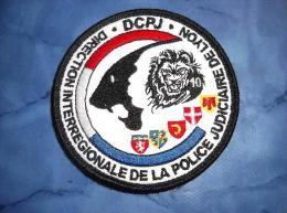 Ecusson Patch Tissu Clémenceau Police Judiciaire DIPJ De Lyon - Police & Gendarmerie