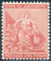 Cape Of Good Hope 1884. 1d Rose-red (wmk. Anchor). SACC 44*, SG 49*. - Südafrika (...-1961)