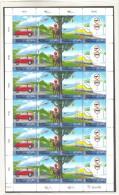 AMM00 UNO WIEN 2001  MICHL 346/49 ZUSAMMENDRUCKBOGEN ** Postfrisch 10%  KATALOG Siehe ABBILDUNG - Wien - Internationales Zentrum
