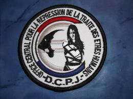 Ecusson Patch Tissu Clémenceau Police Judiciaire Répression De La Traite Des êtres Humains - Police & Gendarmerie