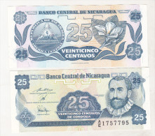 Nicaragua 25 Centavos 1991 Uncirculated - Nicaragua
