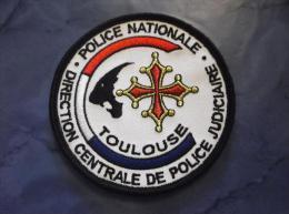 Ecusson Patch Tissu Clémenceau Police Judiciaire SRPJ De Toulouse Blanc - Police & Gendarmerie