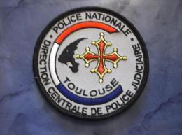 Ecusson Patch Tissu Clémenceau Police Judiciaire SRPJ De Toulouse Gris - Police & Gendarmerie