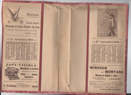 Calendrier -couvre-livre 1918 (pubs De Diverses Entreprises Suisses) (PPP2563) - Calendriers