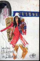Menu AIR FRANCE 1971Nice-Athènes Avec Dessin De Florent Margaritis (PPP2564) - Menus