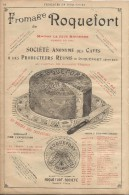 Fromage/Roquefort/Société/Aveyron /Encart Publicitaire/Annuaire Didot-Bottin/1905     ILL41 - Alimentaire