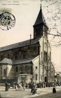 PARIS - Eglise Saint-Georges (rue Simon Bolivar) - CLC - Animée, Colorisée - Arrondissement: 19
