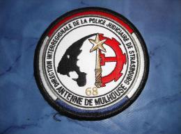Ecusson Patch Tissu Clémenceau Police Judiciaire Antenne De Mulhouse - Police & Gendarmerie
