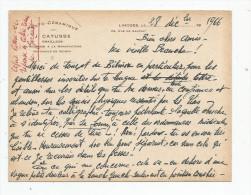 G-I-E , Carte Lettre 14 X 10.5 , Photo - Céramique J. Catusse , émailleur , LIMOGES , 1966 - Facturas & Documentos Mercantiles