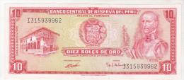 Peru 10 Soles De Oro 1972 - Pérou