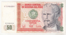 Peru 50 Intis 1987 - Pérou