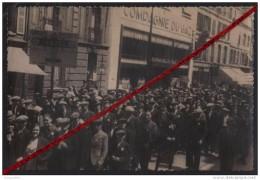 """76 LE HAVRE -- Gréve Du 11 Mai 1936 _ Groupe """" Breguet """" Devant Le Compagnie Du Gaz _ (Photo Originale) - Strikes"""