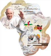 CENTRAL AFRICA 2015 - Pope Francis S/S Official Issue - Popes