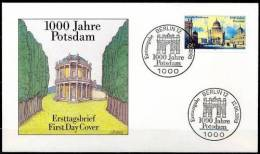 GERMANIA - 1993 - 1000 Jahre Potsdam  Mi. 1680 Serie Cpl. 1v. Su Busta FDC - FDC: Brieven