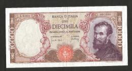 ITALIA - 10000 Lire MICHELANGELO (Firme: Carli / Febbraio - Decr. 20/05/1966) - REPUBBLICA ITALIANA - [ 2] 1946-… : Repubblica