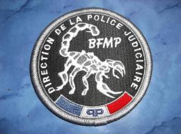 Ecusson Patch Tissu Police Judiciaire BFMP Paris - Police & Gendarmerie