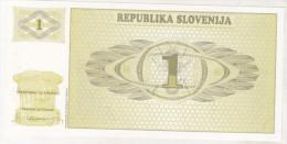 Slovenia 1 Tolar 1990 Unc , Specimen , Pick 1s1 - Slovénie