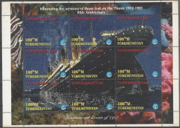 Turkmenistan 065/73 ** Titanic. 1997. Esquina Doblada - Turkmenistán