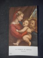 """IMAGE COMMUNION La Vierge Au Rideau - Raphaël """"Alain GARNIER Eglise Notre-Dame VERSAILLES - 1956 - Saisons & Fêtes"""