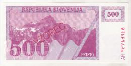 Slovenia 500 Tolarjev Unc , Specimen , Pick 8s1 - Slovénie